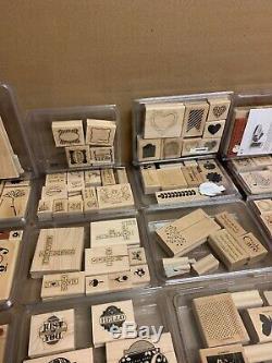 Huge Lot Of retired Stampin' Up stamp sets Massive