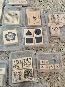 Huge Lot Retired Stampin Up Wood Stamps 29 Sets 2001 Etc Christmas Deer Mushroom