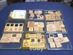 Huge Lot Rubber Stamps over 240 32 Sets Stampin Up