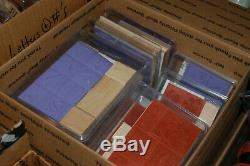 Huge Lot Stampin Up Stamps Rubber Stamps + Rollagraph Sets 75+ Sets