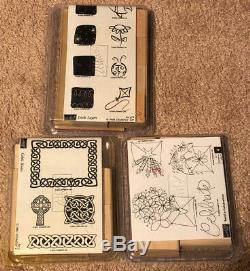 Huge Lot of 18 Stampin' Up Stamp Sets & 28 Individual Rubber Stamps New & Used