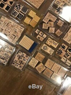 Huge Lot of 55 Stampin' Up Stamp Sets & Individual Rubber Stamps / Discontinued