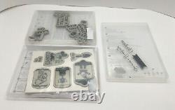 Huge Mixed Lot of 31 Stampin' Up! Rubber & Photopolymer Stamp Sets SEE PHOTOS