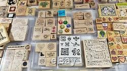 Huge Stampin Up Lot 1000+ Rubber Stamps New & Used Large Holiday Collection Sets