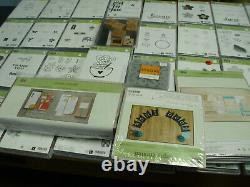 Huge Stampin Up Lot Stamps Mostly Unused 42 Sets