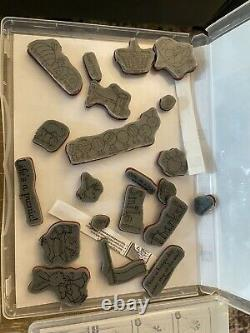 Huge Stampin Up Rubber Stamp Set Mixed Lot