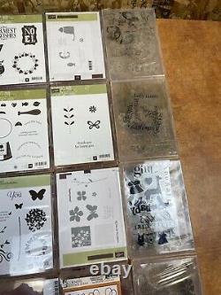 Huge Stamping Craft Scrapbooking Lot 21 set Rubber Stamps Stamping up cornish