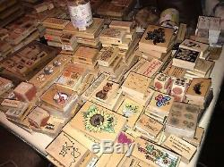 Huge Unused Mounted Rubber Stamp Lot 800+ Stampin Up & More, Many Sets, Retired