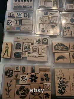 Huge Vtg Stampin Up Lot! 274 Mostly Never Used/Retired Stamps Sets Limited &More