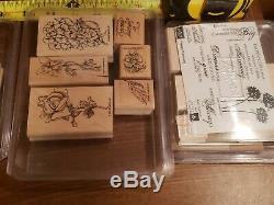 Huge lot of 14 retired Stampin' Up stamp sets