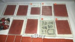 Huge lot of 24 retired Stampin' Up stamp sets and extras for scrap booking cards