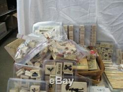 Huge lot of Stampin' Up! Stamp sets plus 2 extra containers of Bonus Stamps(NI)