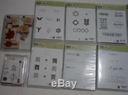 Huge lot of stampin up stamps (10 sets)