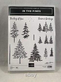 IN THE PINES Stamp Set PINE WOOD Dies Stampin Up New Trees Christmas