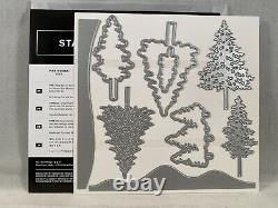 IN THE PINES Stamp Set PINE WOODS Dies Stampin Up New Trees Christmas