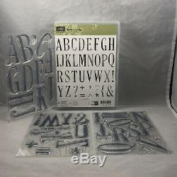 LETTERS FOR YOU Stamp Set & LARGE LETTERS Framelits Stampin Up New Alphabet