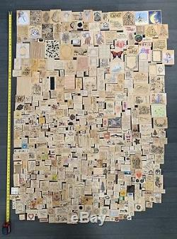 LOT 550+ HARDWOOD RUBBER STAMPS stampin' up! Large Collection Set