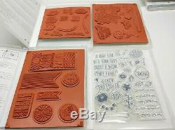 LOT OF 13 Stampin Up Stamp Sets Birthday Happy Celebrations Balloons Cake Party