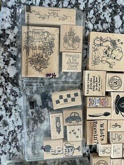 LOT OF 165+ Stampin' Up Wood Mounted Stamps Rubber Stamp Sets Ships Free