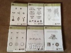 LOT OF 25 STAMPIN UP STAMP SETS. Mixed Themes. NEW & EUC