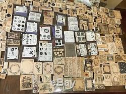 LOT OVER 500 STAMPS Stampin' Up! PSX hero halloween xmas sets frames botanical