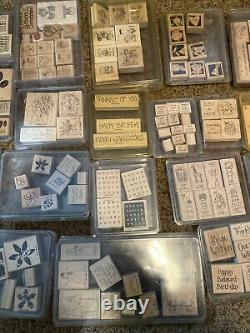 LOT of Stampin' Up Rubber Stamp Sets 2001