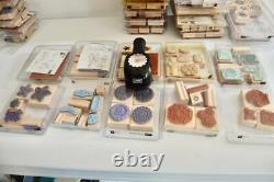 LOT of Stampin' Up Stamp Sets 35 Sets, 322 Stamps 1 Punch A great variety