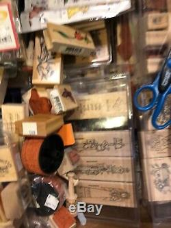 Large Lot 25lbs Stamping Up Sets, Scissors, Miscellaneous Stamps, Easter, Hokidays