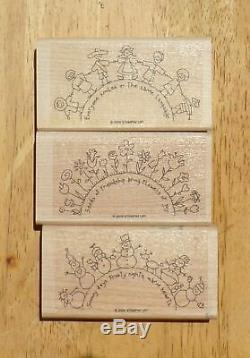 Large Lot of 11 STAMPIN UP Items6 PunchesStamp-a-ma-jigBrayer3 Stamp Sets