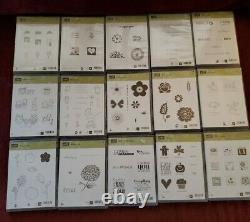 Large Lot of 15 Stampin Up Stamp Sets