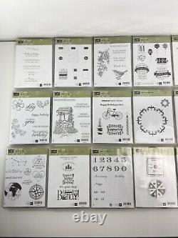 Large Lot of 20 Stampin' Up! Stamp sets Mixed Themes
