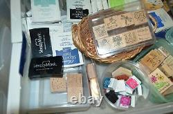 Large Lot of Stampin' Up! Stamp Sets and Other Stamping Accessories (Summer Fun)