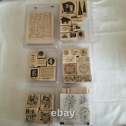 Large Mixed Lot 26 Stampin' Up! Stamp Sets Retired Scrapbooking Cards Crafts
