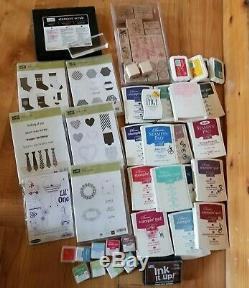 Large New & Used Stampin Up & Ink Set