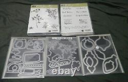 Large Stampin Up Stamp Set Lot Of 24 Halloween, Spring, Summer, Holidays, E. C. T