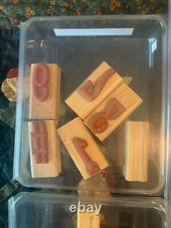 Lot 15 Sets Stampin Up Rubber Stamps Ink Pads Ink Refills 94 Stamps Crafts