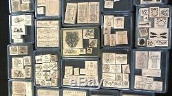 Lot 37 Sets Retired Stampin Up Wood Mount 240 Rubber Stamp Trucks Happy Healing