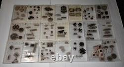 Lot Of 21 Stampin' Up Rubber Stamps Sets Stampin Up