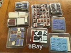 Lot Of 25 Stampin' Up Boxed Stamp Sets (246 actual stamps), Plus Stampin Scrub