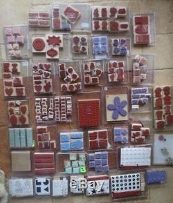 Lot STAMPIN' UP 40 stamp sets 346 total many new retired huge variety+