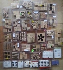 Lot STAMPIN' UP 40 stamp sets 346 total retired variety+