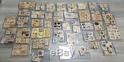 Lot STAMPIN' UP 42 Wood Rubber Stamp Sets 270 Total Many Rare Variety 1994-2007