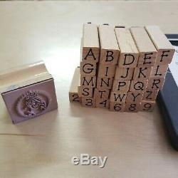 Lot of 100+ Stamps STAMPIN' UP STAMP SETS Rubber Wood Mounted