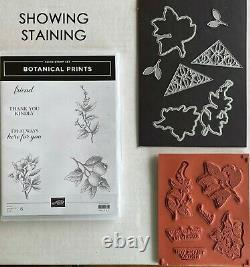 Lot of 13 Stampin Up Stamp Sets 2 withcoordinating dies 2 withpunches, floral theme