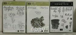 Lot of 15 Stampin Up Stamp Sets Nature & Flower Stamps StampinUp FREE SHIPPING