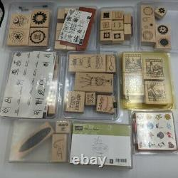 Lot of 159 Piece Stampin' Up & more Rubber Stamp Set Christmas Celebrations Misc
