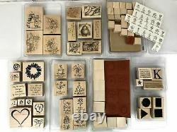 Lot of 16 Stampin Up Rubber Stamp Sets 126 pieces NEW & USED