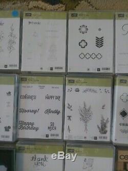 Lot of 16 Stampin' Up Stamp Sets, 6 Ink Pads 1 Framlit Set, 4 Punches + More