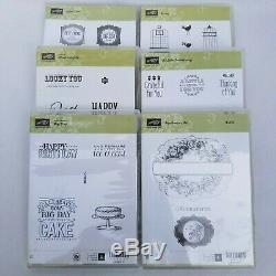 Lot of 17 New & Used Stampin' Up! Clear Mount and Rubber Stamps Sets Cardmaking