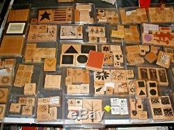 Lot of 180 Most Stampin Up Stamps Sets + others